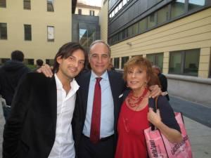 Ancora con il direttore Andrea Monti e con mio figlio Andrea