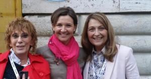 Con Elisa Calcamuggi e Nicoletta Grifoni