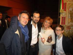 Commossa con Gabriele e Andrea, i miei figli e Giacomo, mio nipote