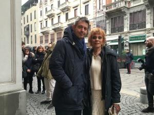 Con Gabriele, mio figlio, pronto ad acchiapparmi in caso io vacilli