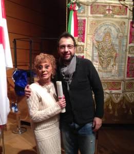 Con Gianluca Comazzi, il consigliere comunale che mi ha candidato