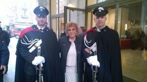 Due meravigliosi carabinieri a guardia del mio Ambrogino d'oro 2015