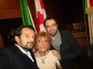 Selfie con Andrea, mio figlio e Gianluca Comazzi