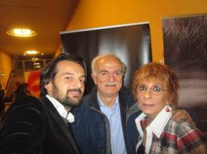 Con Sandro Mazzola, mio figlio Andrea Celentano