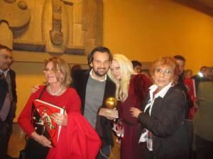 Con Giusy Achilli, mio figlio Andrea Celentano, Laura Marconi Rivera e il pallone d'oro