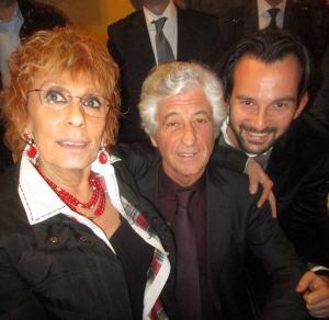 Selfie con Gianni Rivera, mio figlio Andrea Celentano